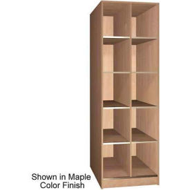 """Ironwood 10 Compartment Open Storage 40"""" D Locker, Maple Color"""