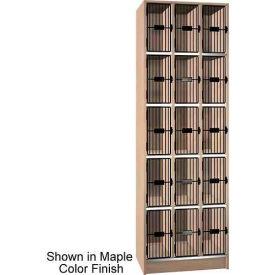 "Ironwood 15 Compartment Black Grill Door 20"" D Locker, Maple Color"