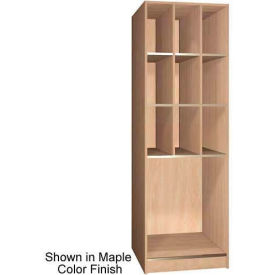 "Ironwood 9 Upper, 1 Lower Compartment Open 30"" D Locker, Natural Oak"