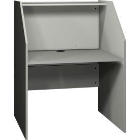Computer Furniture | Computer Desks U0026 Workstations | Ironwood Study Carrel  Base, 37 3/8u0026quot;W X 30u0026quot;D X 47 7/8u0026quot;H, Gray | B239498 ...