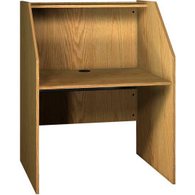 "Ironwood Study Carrel Base, 37-3/8""W x 30""D x 47-7/8""H, Natural Oak"