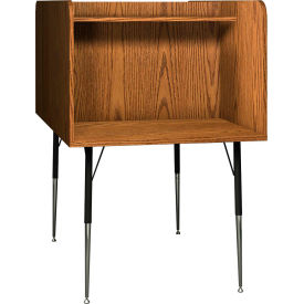 "Ironwood Back-to-Back Study Carrel, 35-5/8""W x 58-3/8""D x 52-3/8""H, Medium Oak"