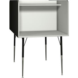 """Computer Carrel-Back to Back - 35-5/8""""W x 58-3/8""""D x 52-3/8""""H Gray"""