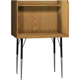 "Ironwood Single Study Carrel, 35-5/8""W x 30""D x 52-3/8""H, Natural Oak"