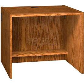 """36"""" x 29"""" Desk Shell - 36""""W x 30-1/8""""D x 29-5/8""""H Medium Oak"""