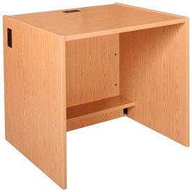 "36"" x 32"" Desk Shell - 36""W x 30-1/8""D x 32-1/8""H Amber Ash"