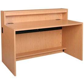 "60"" x 32"" Desk Shell - 60""W x 30-1/8""D x 32-1/8""H Amber Ash"