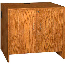 "Hinged Door Unit - 36""W x 30-1/8""D x 32-1/8""H Medium Oak"