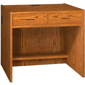 "Two-Drawer Unit - 36""W x 30-1/8""D x 32-1/8""H Medium Oak"