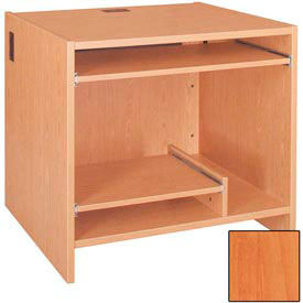 """39"""" Tower Work Station - 36""""W x 30-1/8""""D x 39-1/4""""H Oiled Cherry"""