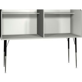 "Computer Carrel-Side by Side - 70""W x 30""D x 52-3/8""H Gray"