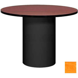 """Ironwood 42"""" Round Conference Table Oiled Cherry Top/Black Base"""