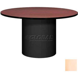 """Ironwood 48"""" Round Conference Table Maple Top/Black Base"""
