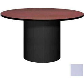 "Ironwood 48"" Round Conference Table Folkstone Gray Top/Gray Base"
