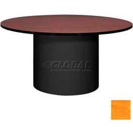 "Ironwood 60"" Round Conference Table Oiled Cherry Top/Black Base"