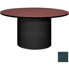 "Ironwood 60"" Round Conference Table Black Granite Top/Black Base"