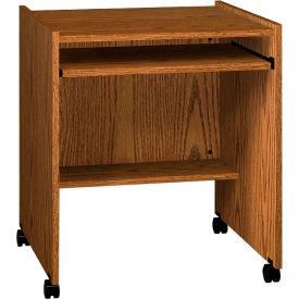 "Ironwood Computer Stand, 27-1/2""W x 23-7/8""D x 30-1/8""H, Medium Oak"