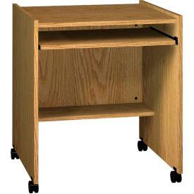 """Ironwood Computer Stand, 27-1/2""""W x 23-7/8""""D x 30-1/8""""H, Natural Oak"""