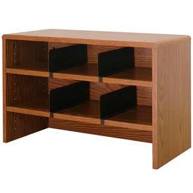 "Desk Top Organizer 29""W 2-Shelves - 29""W x 12""D x 18""H Medium Oak"