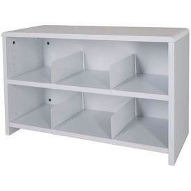 "Desk Top Organizer 29""W 2-Shelves - 29""W x 12""D x 18""H Gray"