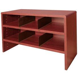 """Desk Top Organizer 29""""W 2-Shelves - 29""""W x 12""""D x 18""""H Mahogany"""