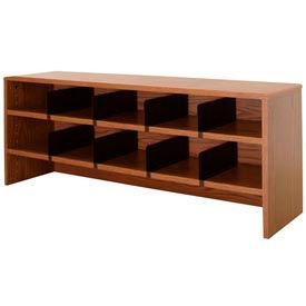 "Desk Top Organizer 48""W 2-Shelves - 47""W x 12""D x 18""H Medium Oak"