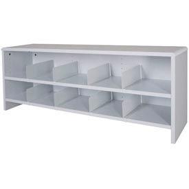 "Desk Top Organizer 48""W 2-Shelves - 47""W x 12""D x 18""H Gray"