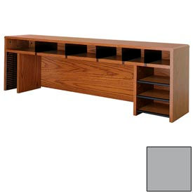 "Desk Top Organizer CD Storage - 58""W x 12""D x 18""H Gray"