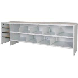 "Desk Top Organizer High Capacity - 58""W x 12""D x 18""H Gray"