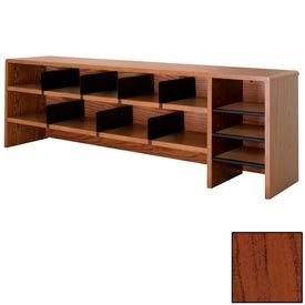 "Desk Top Organizer High Capacity - 58""W x 12""D x 18""H Mahogany"