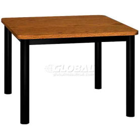"Square Library Table - 36""W x 36""D x 25""H Medium Oak"
