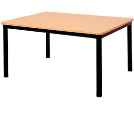 """Square Library Table - 48""""W x 48""""D x 25""""H Amber Ash"""