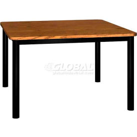 "Square Library Table - 48""W x 48""D x 29""H Medium Oak"
