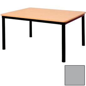 "Rectangle Library Table - 60""W x 48""D x 25""H Gray"