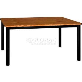 """Rectangle Library Table - 60""""W x 48""""D x 29""""H Medium Oak"""