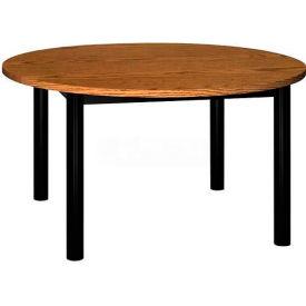 "Round Library Table - 48""W x 48""D x 25""H Medium Oak"