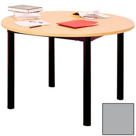 """Round Library Table - 48""""W x 48""""D x 25""""H Gray"""