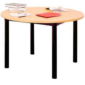 """Round Library Table - 60""""W x 60""""D x 25""""H Amber Ash"""