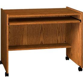 "Ironwood Computer Station, 38""W x 24-1/8""D x 31-1/4""H, Medium Oak"