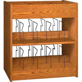 """Book Browser - 37""""W x 23-7/8""""D x 30""""H Medium Oak"""