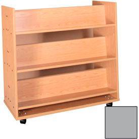 """Book Truck - 6 Shelves - 42""""W x 18""""D x 42-1/2""""H Gray"""