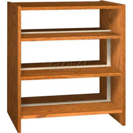 "42"" Double Face Shelving Base - 37""W x 24""D x 40-7/8""H Dixie Oak"