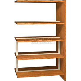 "60"" Double Face Shelving Adder - 36""W x 24""D x 59-7/8""H Medium Oak"
