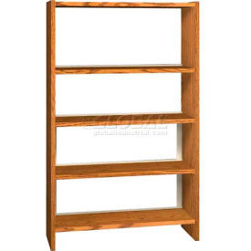 "60"" Single Face Shelving Base - 37""W x 12-1/4""D x 59-7/8""H Oiled Cherry"