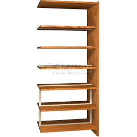 "84"" Double Face Shelving Adder - 36""W x 24""D x 83-3/4""H Medium Oak"