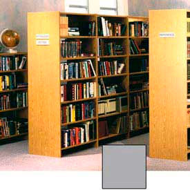 "84"" Double Face Shelving Adder - 36""W x 24""D x 83-3/4""H Gray"