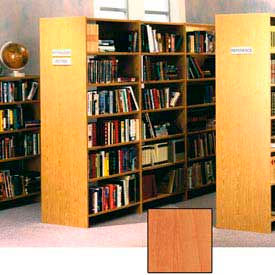 """84"""" Double Face Shelving Adder - 36""""W x 24""""D x 83-3/4""""H Oiled Cherry"""