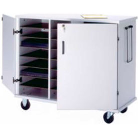"Ironwood Glacier™ Laptop Storage Cart, 43-1/2""W x 20""D x 35-1/2""H, Folkstone Gray"