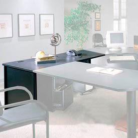 "Ironwood 30"" x 72"" Desk Shell - 72""W x 30""D x 28-3/8""H - Black Granite  - 3000 Series"