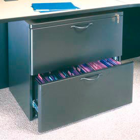"""Ironwood Lateral File Cabinet - 29-5/8""""W x 19-3/4""""D x 26-3/4""""H Black Granite  - 3000 Series"""